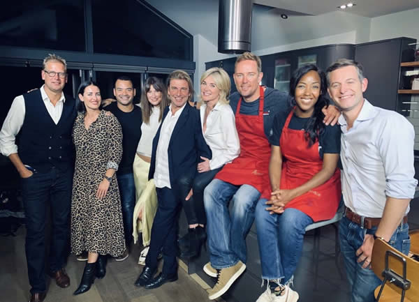 BLOODWISE Cancer charity dinner in the kitchen